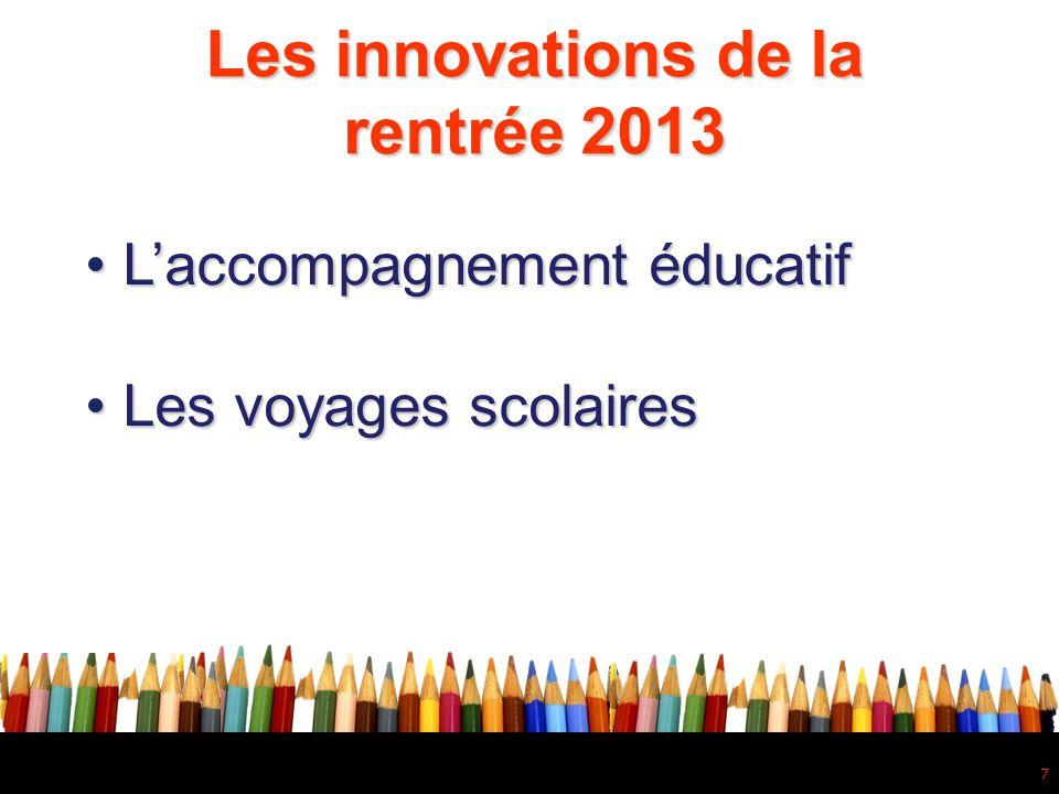 8 Les innovations de la rentrée 2013