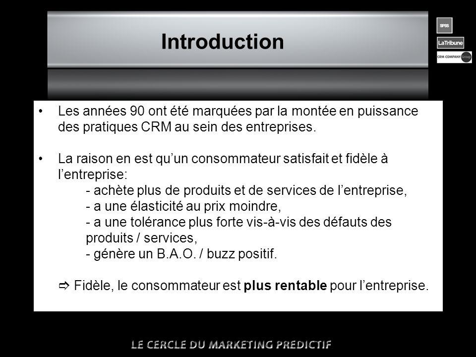 n Introduction •On estime qu'il coûte 5 à 10 fois moins cher de fidéliser….