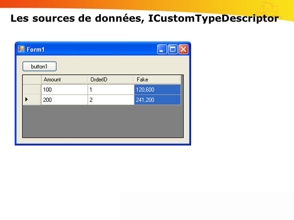 Les sources de données, ICustomTypeDescriptor