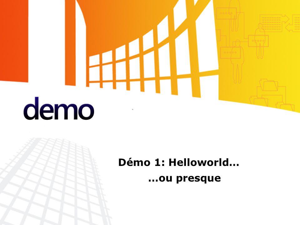 Démo Démo 1: Helloworld… …ou presque