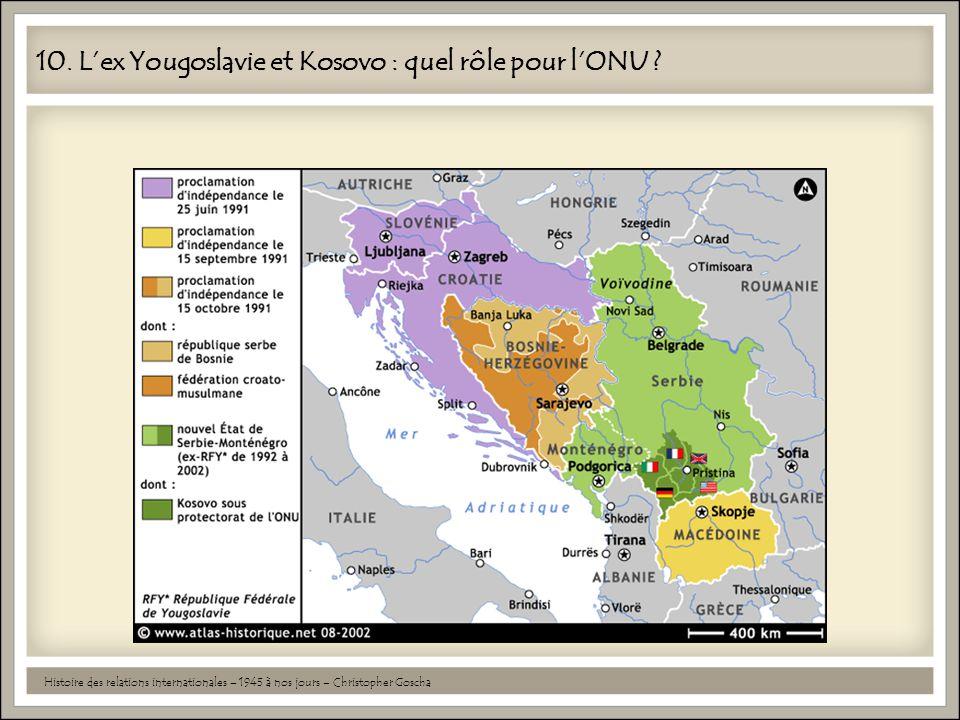 10. L'ex Yougoslavie et Kosovo : quel rôle pour l'ONU ? Histoire des relations internationales – 1945 à nos jours – Christopher Goscha