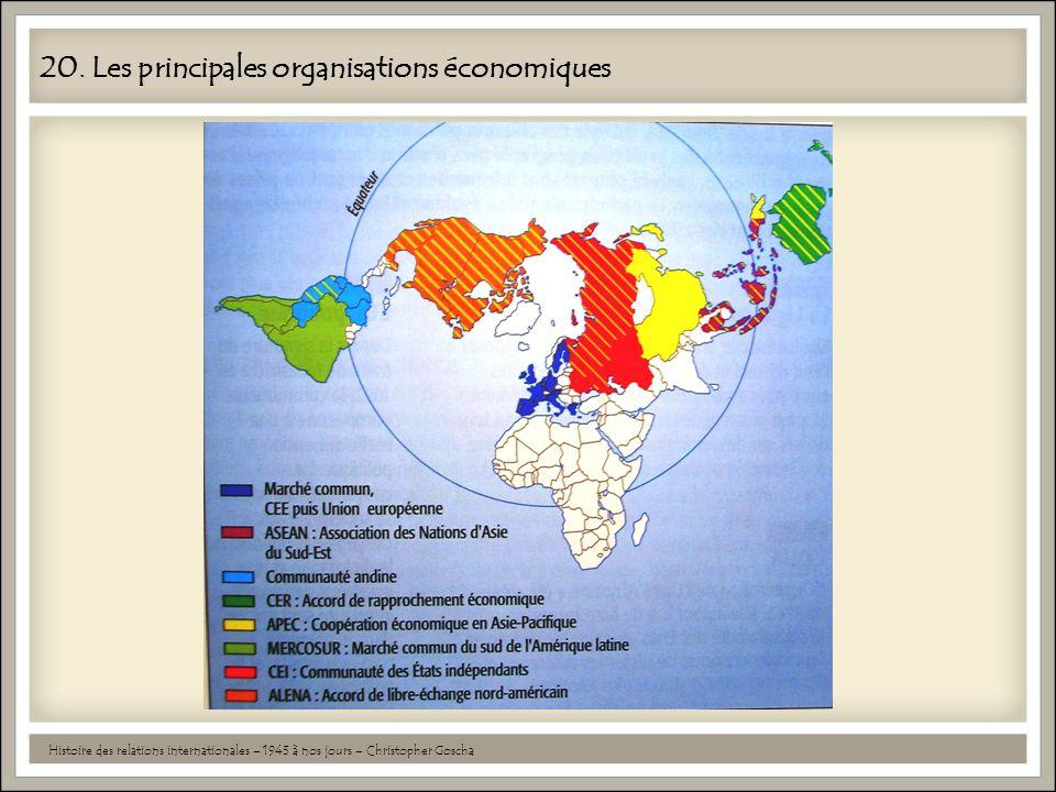 20. Les principales organisations économiques