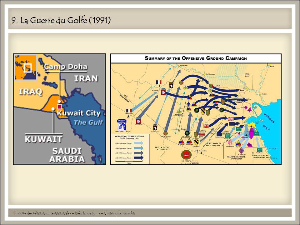 9. La Guerre du Golfe (1991) Histoire des relations internationales – 1945 à nos jours – Christopher Goscha
