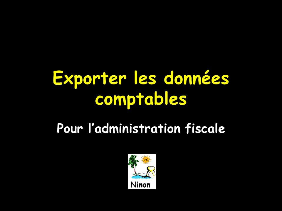 Exporter les données comptables Pour l'administration fiscale