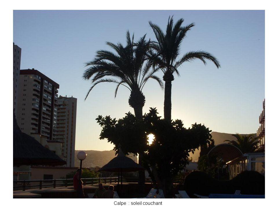 Calpe : soleil couchant