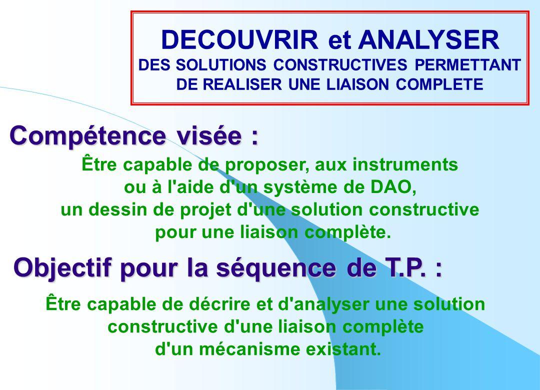Compétence visée : Être capable de proposer, aux instruments ou à l'aide d'un système de DAO, un dessin de projet d'une solution constructive pour une