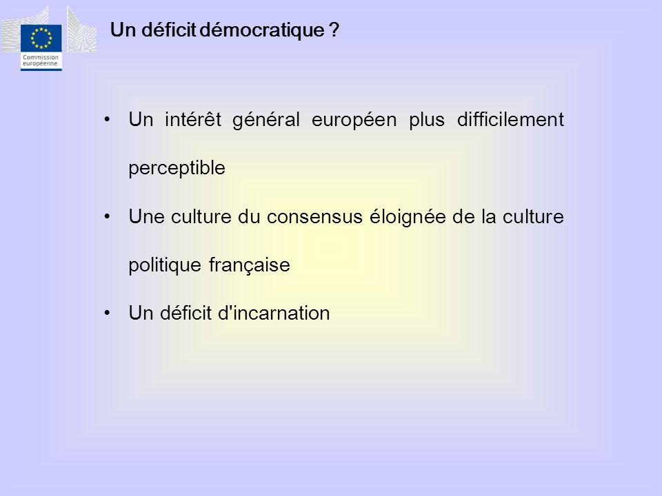 Un déficit démocratique .