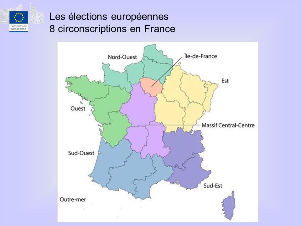 Les élections européennes 8 circonscriptions en France