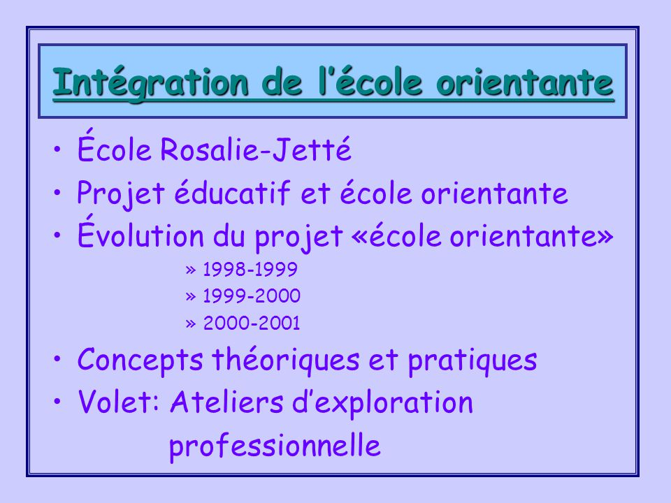 École sec. Rosalie-Jetté 5100, rue Bossuet Montréal (Québec) H1M 2M4 Danielle Woolley, directrice woolleyd@csdm.qc.ca (514) 596-4240 Guy Tessier, Cons