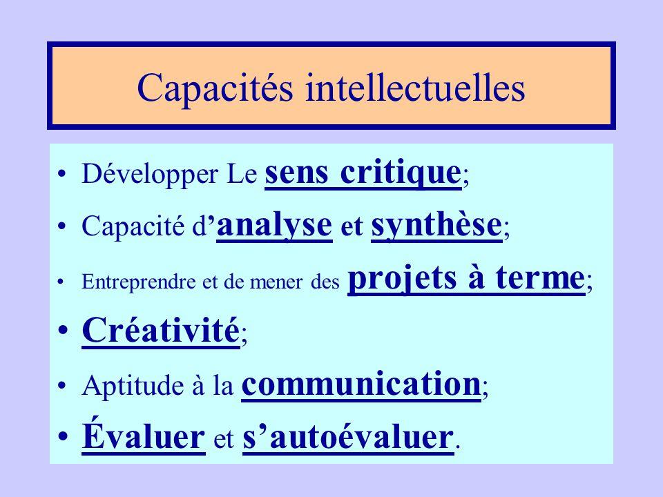 Les États généraux sur l'éducation •Trop axé sur des savoirs disciplinaires ; •Compétences transversales; •Compétences liées aux capacités intellectue