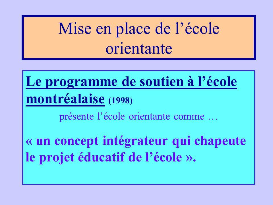 Le groupe de travail sur la réforme … que l'IOSEP soient mieux intégrées aux activités de l'école. … que l'IOSEP soient même intégrées au projet éduca
