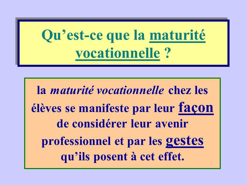 Objectif général de l'école orientante à Rosalie-Jetté Redonner un sens à l'école en développant la maturité vocationnelle de l'élève.