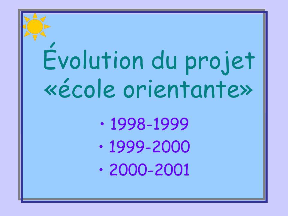 Projet éducatif et école orientante