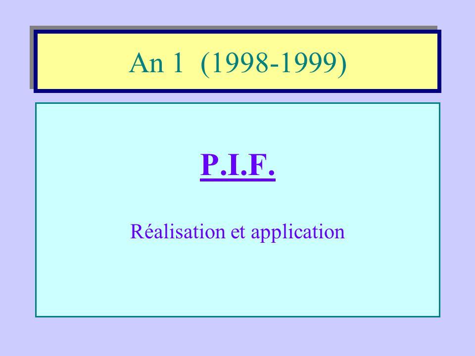 Évolution du projet «école orientante» •1998-1999 •1999-2000 •2000-2001