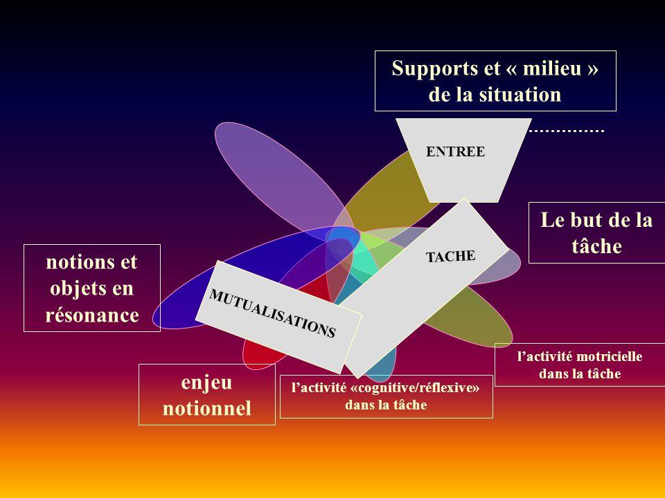 Supports et « milieu » de la situation Ex.