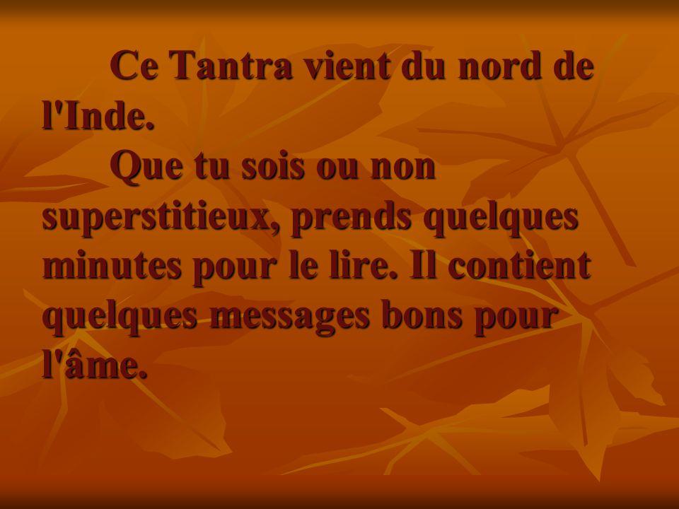 C est un Totem Tantra qui porte chance.Ce Totem Tantra t est envoyé.
