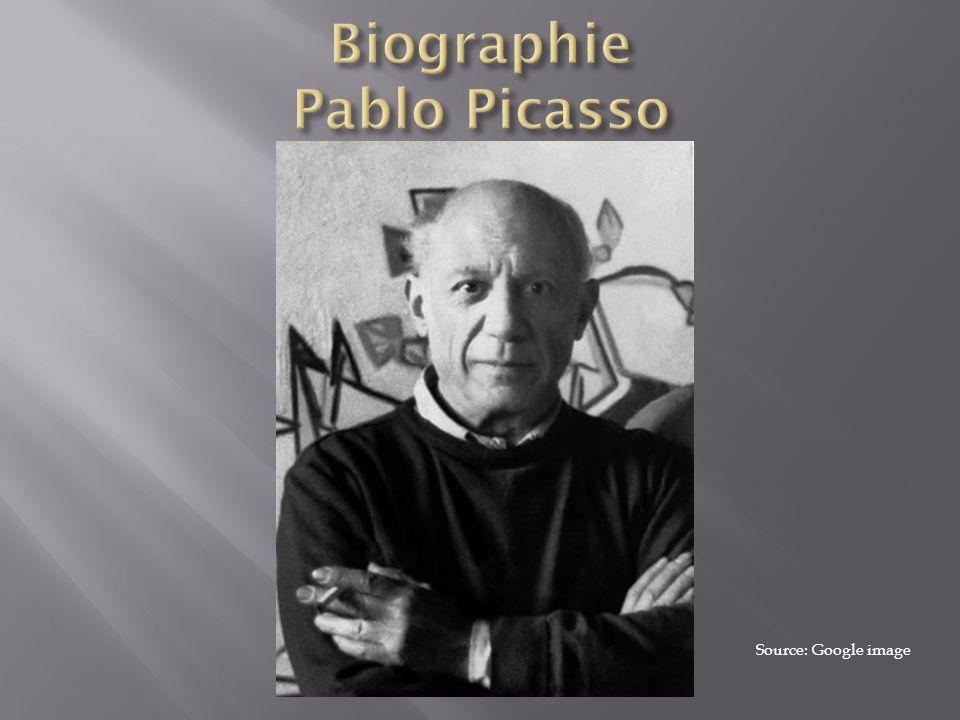 Pablo Ruiz Picasso, né à Málaga en Espagne, en octobre 1881 et mort en Avril 1973 il est peintre, dessinateur et sculpteur espagnol ayant passé l essentiel de sa vie en France, Pablo Picasso fréquenta l Académie des Beaux-arts de Barcelone.
