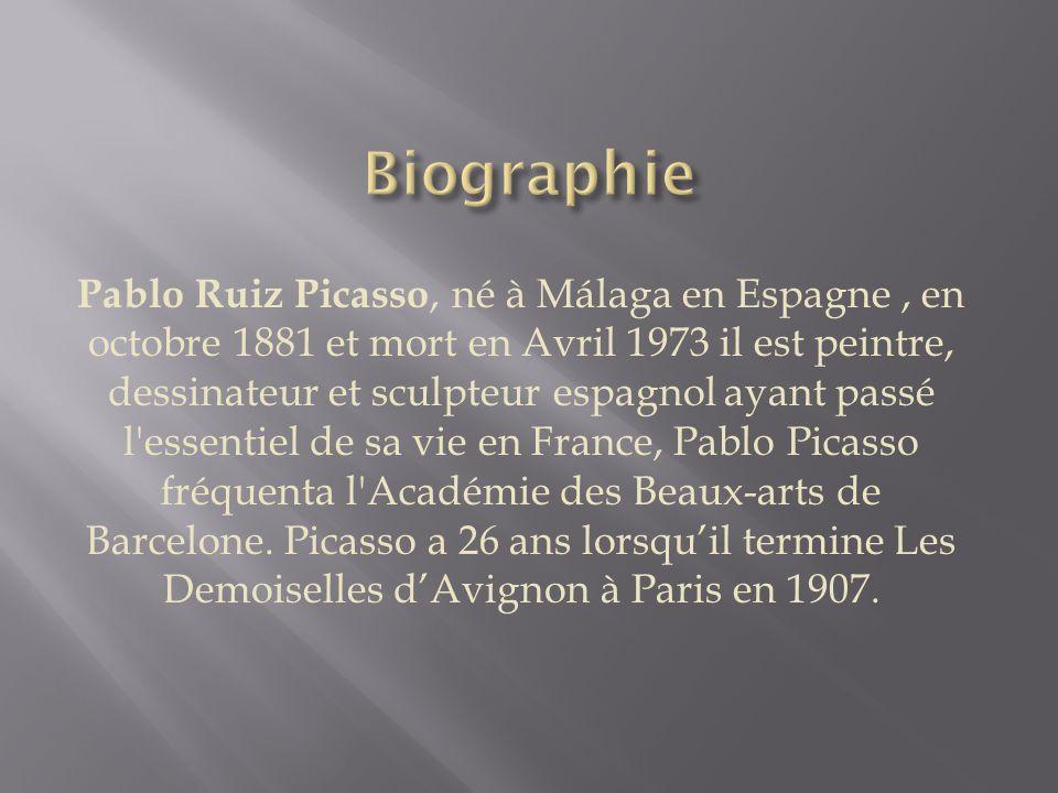 Pablo Ruiz Picasso.Les Demoiselles d'Avignon. Réalisé à Paris en1907.
