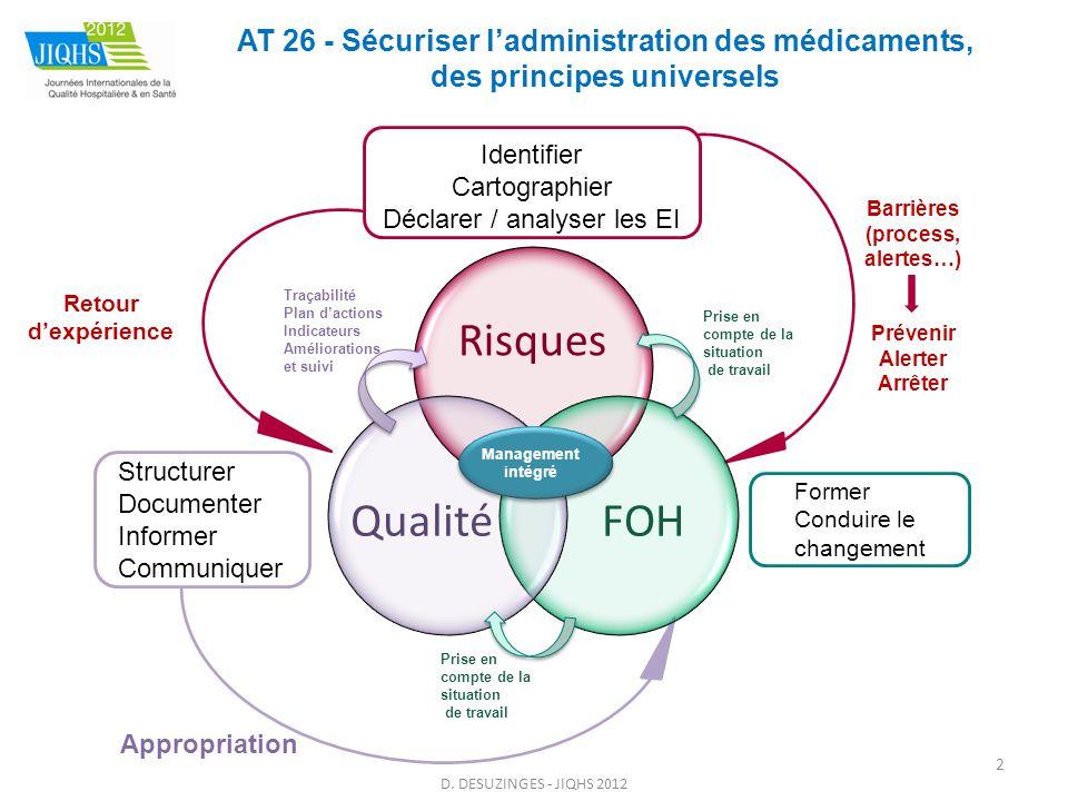 AT 26 - Sécuriser l'administration des médicaments, des solutions multiples et personnalisées D.