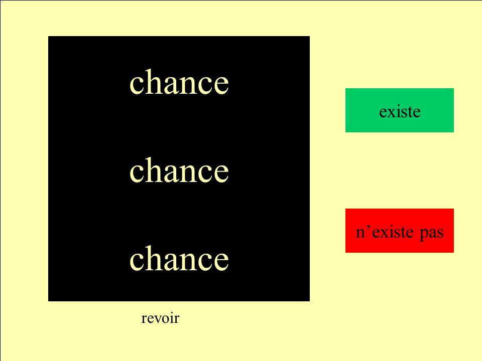 chance revoir chance existe n'existe pas
