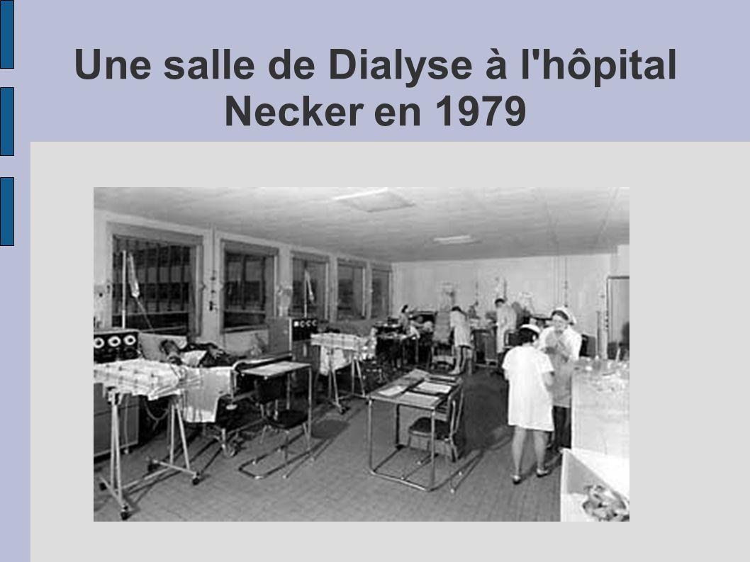 Une salle de Dialyse à l'hôpital Necker en 1979