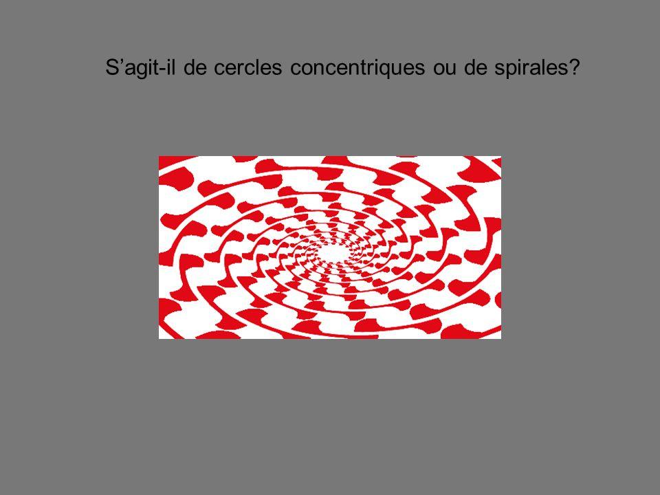S'agit-il de cercles concentriques ou de spirales?