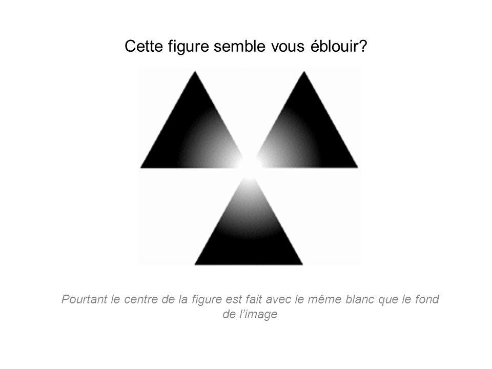 Cette figure semble vous éblouir? Pourtant le centre de la figure est fait avec le même blanc que le fond de l'image