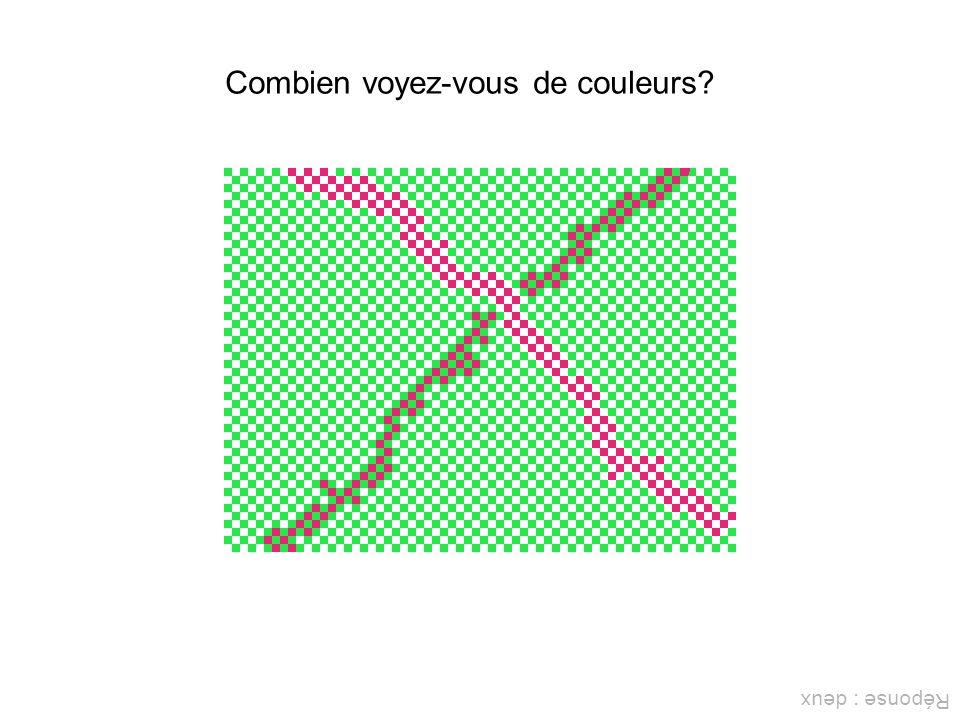 Combien voyez-vous de couleurs? Réponse : deux