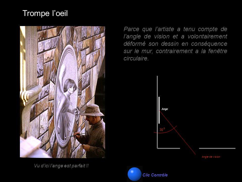 Trompe l'oeil Ange Angle de vision 30 o Parce que l'artiste a tenu compte de l'angle de vision et a volontairement déformé son dessin en conséquence s