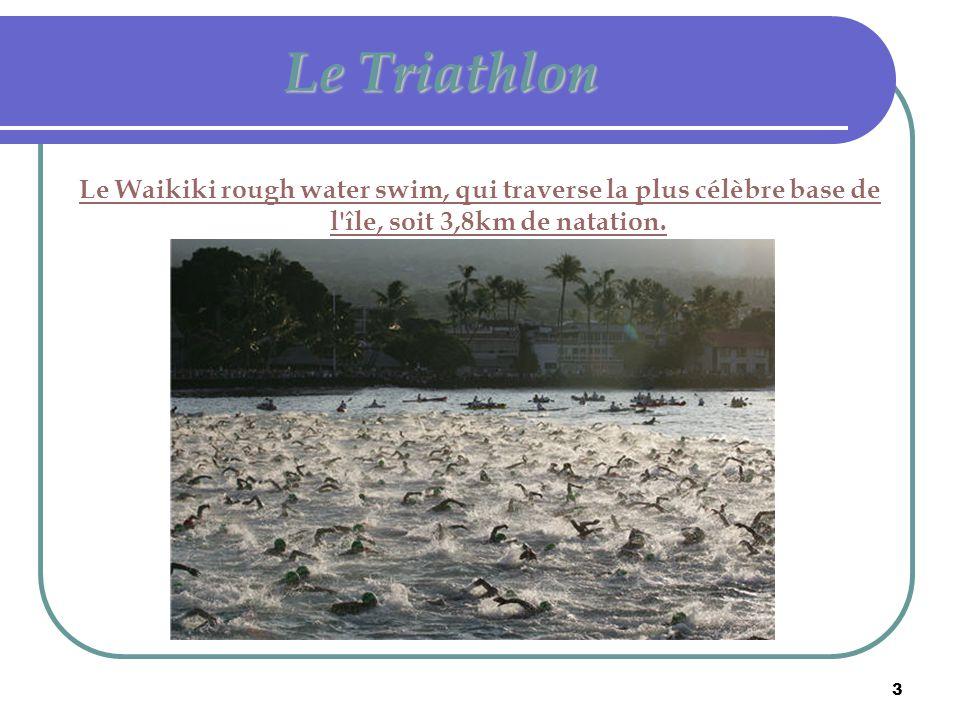4 Le Triathlon L around Oahu bike race,épreuve cycliste autour de l île,d une longueur de 180km