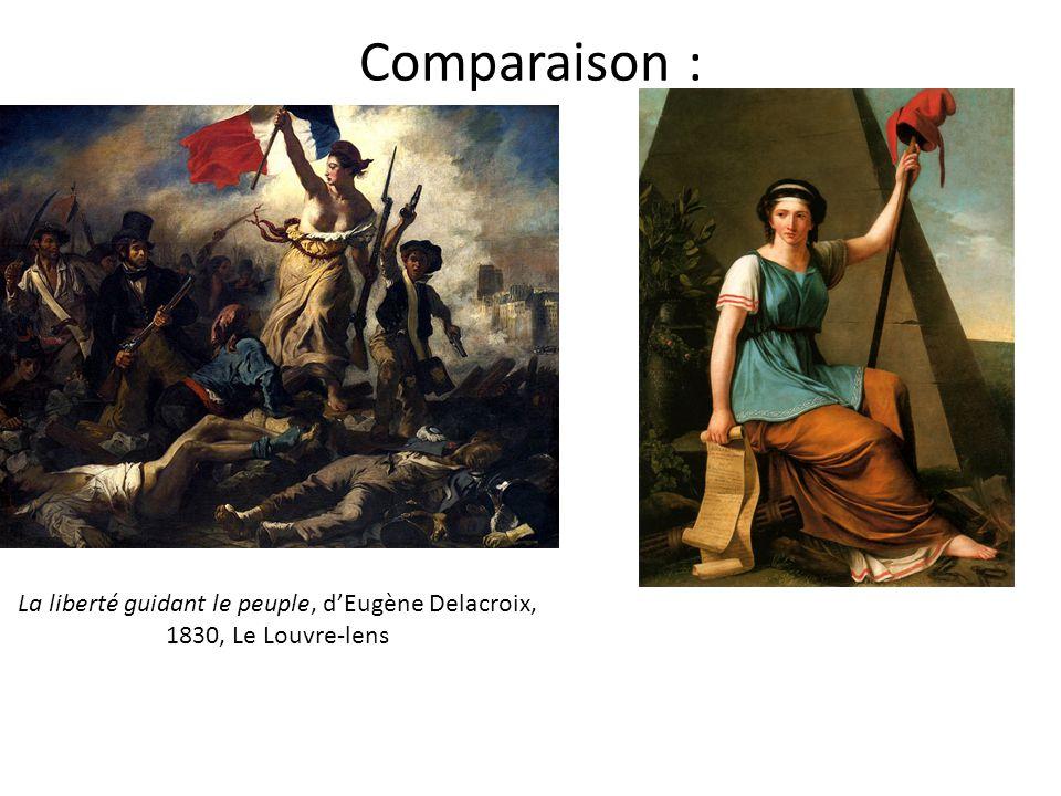 Comparaison : La liberté guidant le peuple, d'Eugène Delacroix, 1830, Le Louvre-lens
