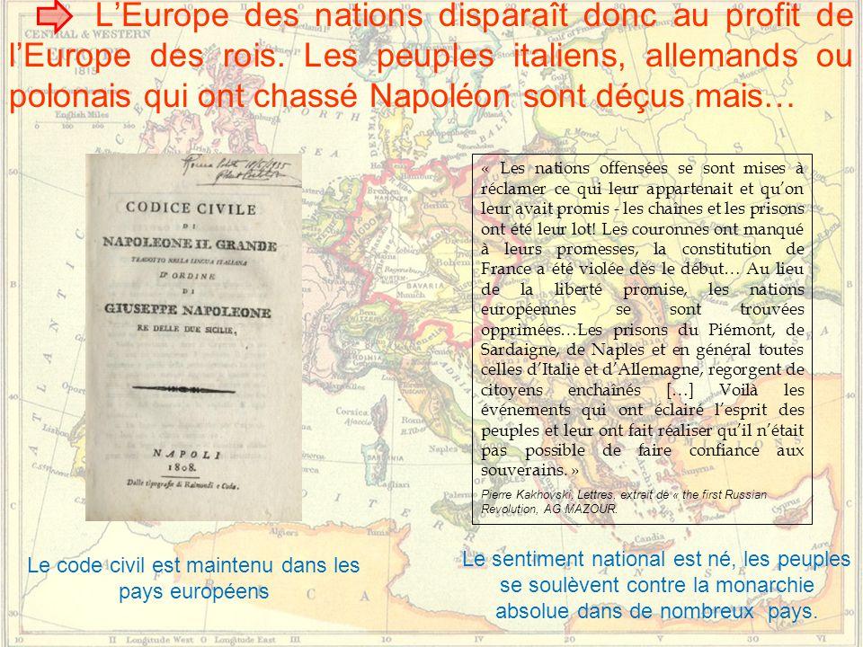 L'Europe des nations disparaît donc au profit de l'Europe des rois.
