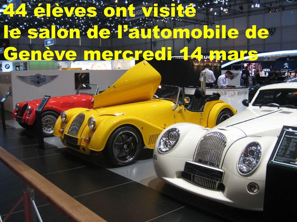 44 élèves ont visité le salon de l'automobile de Genève mercredi 14 mars