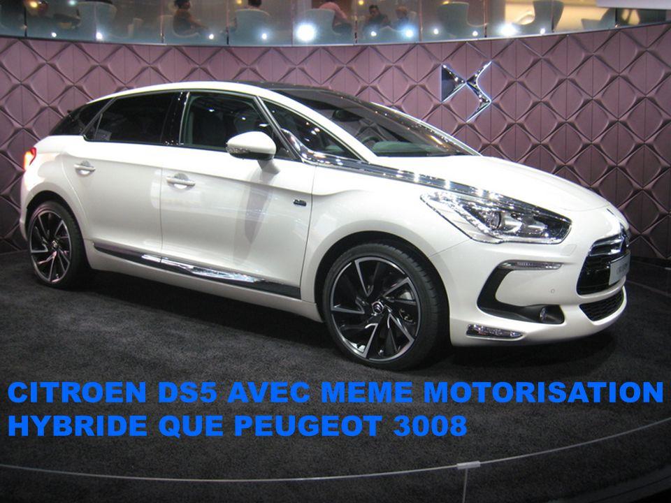 CITROEN DS5 AVEC MEME MOTORISATION HYBRIDE QUE PEUGEOT 3008