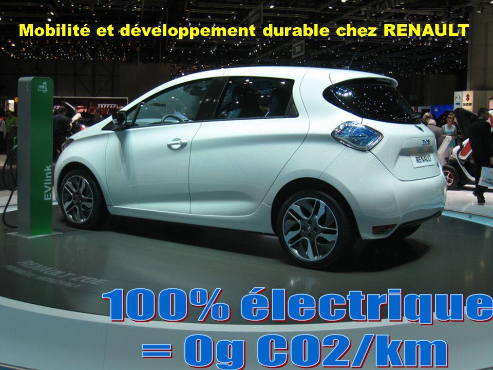 Mobilité et développement durable chez RENAULT