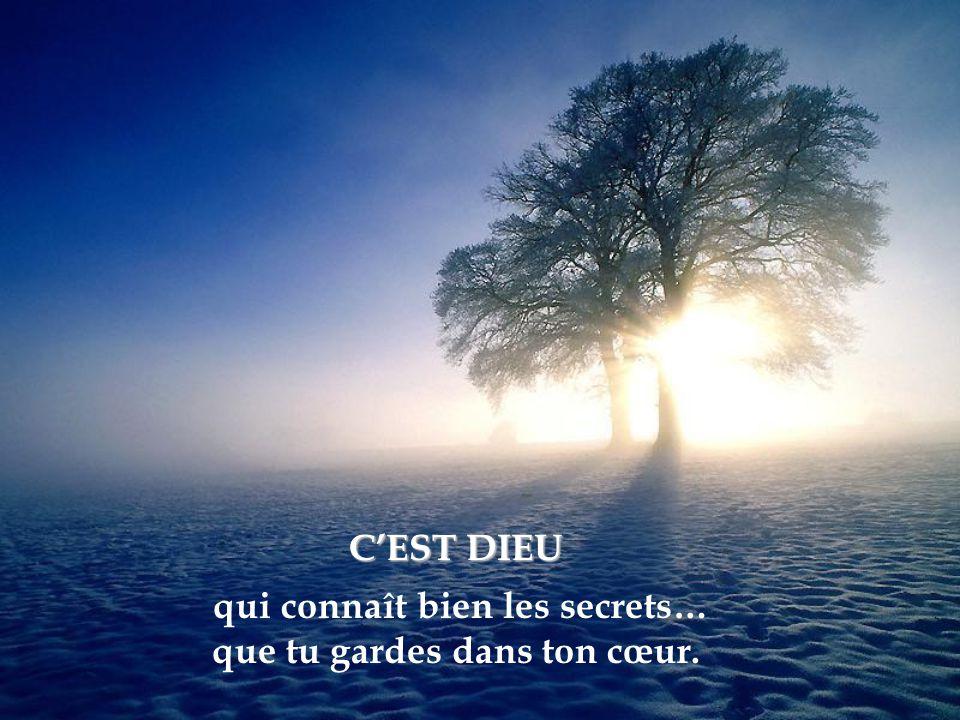 C'EST DIEU qui connaît bien les secrets… que tu gardes dans ton cœur.