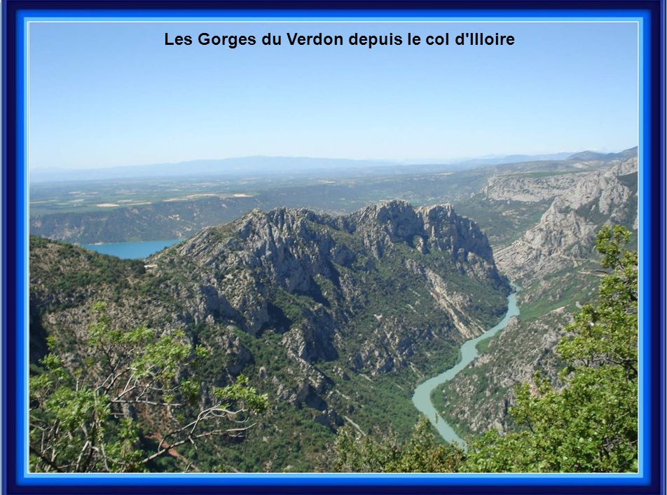 Les Gorges du Verdon depuis le col d'Illoire