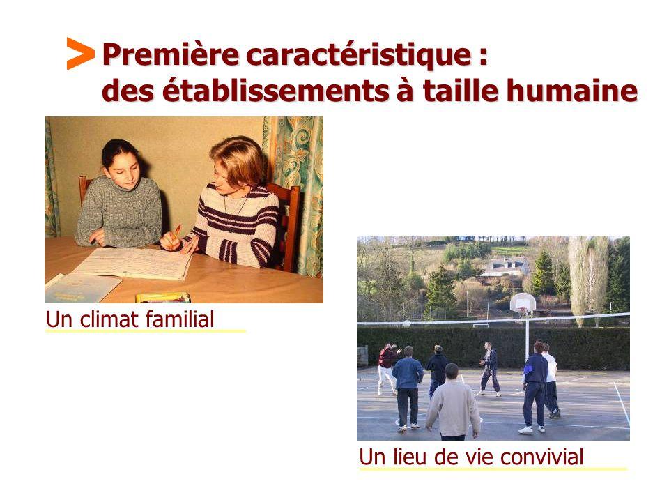 Maison Familiale Rurale d'Éducation et d'Orientation - 11 Première caractéristique : des établissements à taille humaine Un climat familial Un lieu de vie convivial