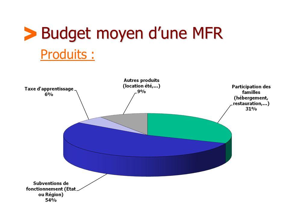 Maison Familiale Rurale d'Éducation et d'Orientation - 34 Budget moyen d'une MFR Produits :