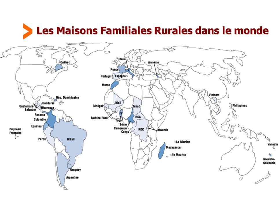 Maison Familiale Rurale d'Éducation et d'Orientation - 39 Les Maisons Familiales Rurales dans le monde