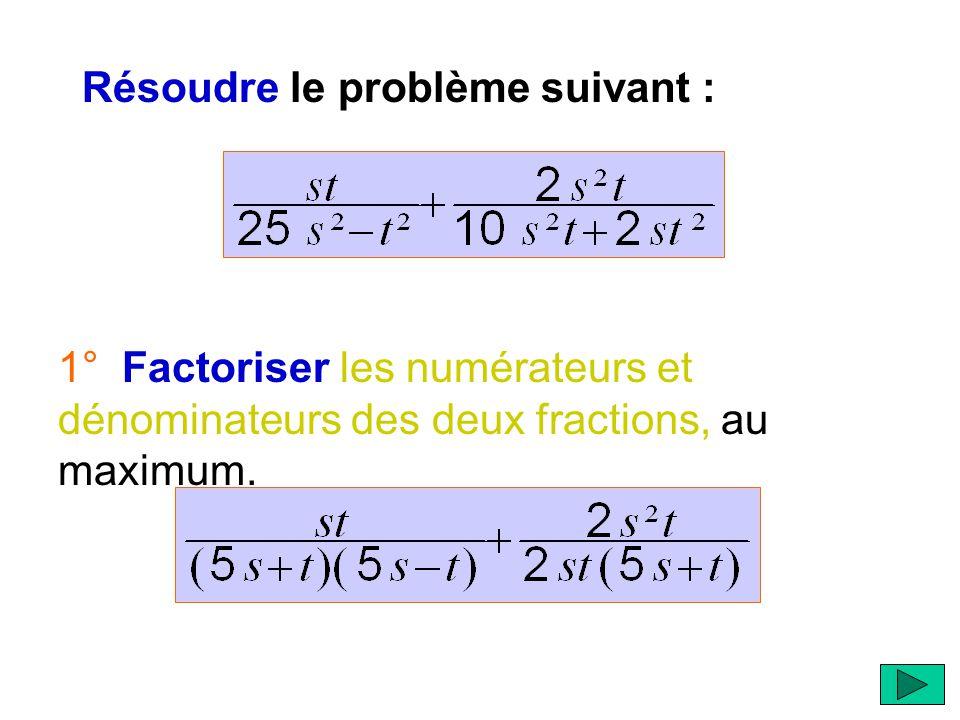  Dans les pages qui vont suivre, vous pourrez visualiser les différentes étapes pour résoudre un problème d'addition ou de soustraction de fractions