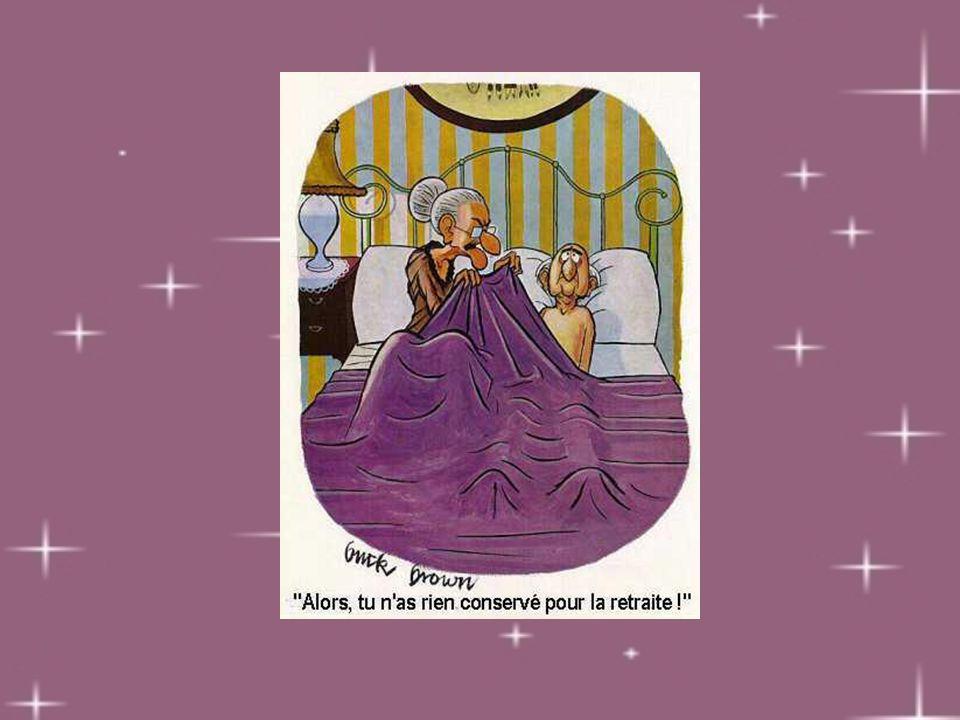 Vieillir c'est quand… passer une bonne nuit veut dire que t'as pas eu à te lever pour faire pipi.