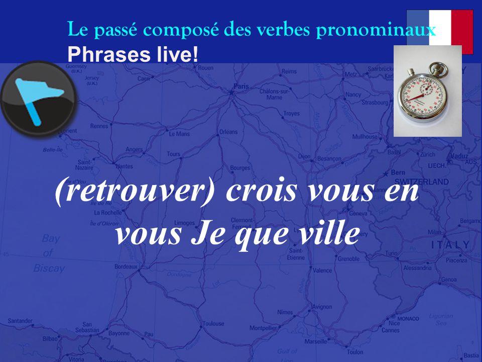 Le passé composé des verbes pronominaux Phrases live! à Nous (habituer) situation ne nous jamais cette