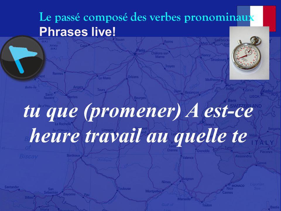 Le passé composé des verbes pronominaux Phrases live! (retrouver) crois vous en vous Je que ville