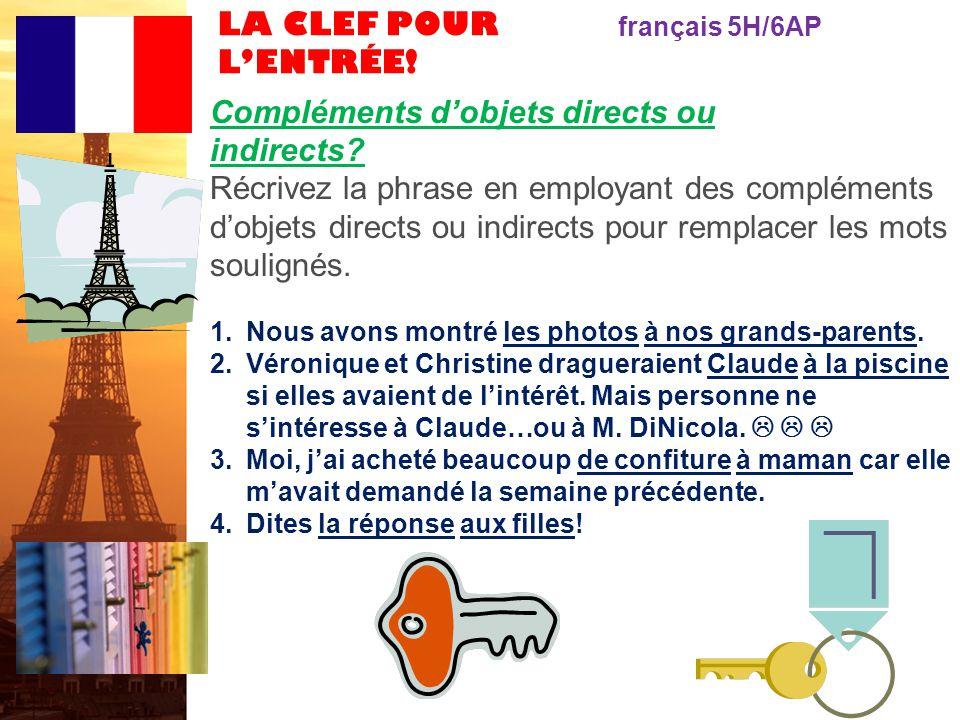 français 6AP le 10-13 février 2012 ActivitéClasseur ÉCOUTONS!: Ç a ira, mon amour .