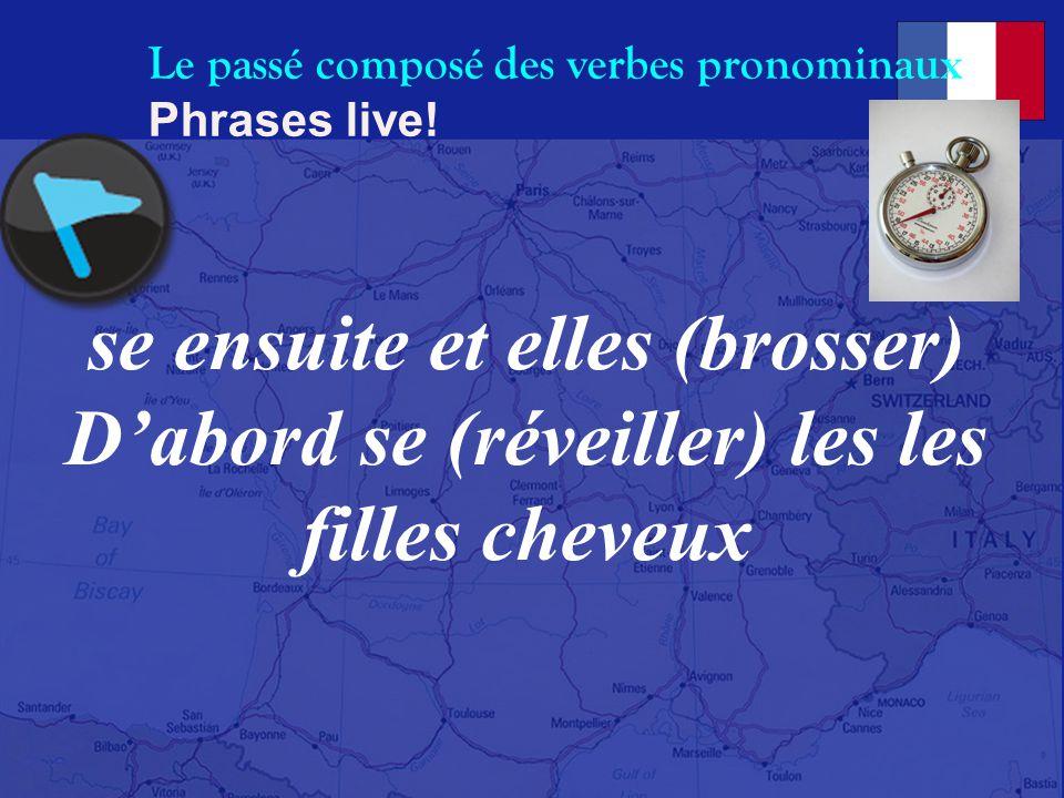 Le passé composé des verbes pronominaux Phrases live.