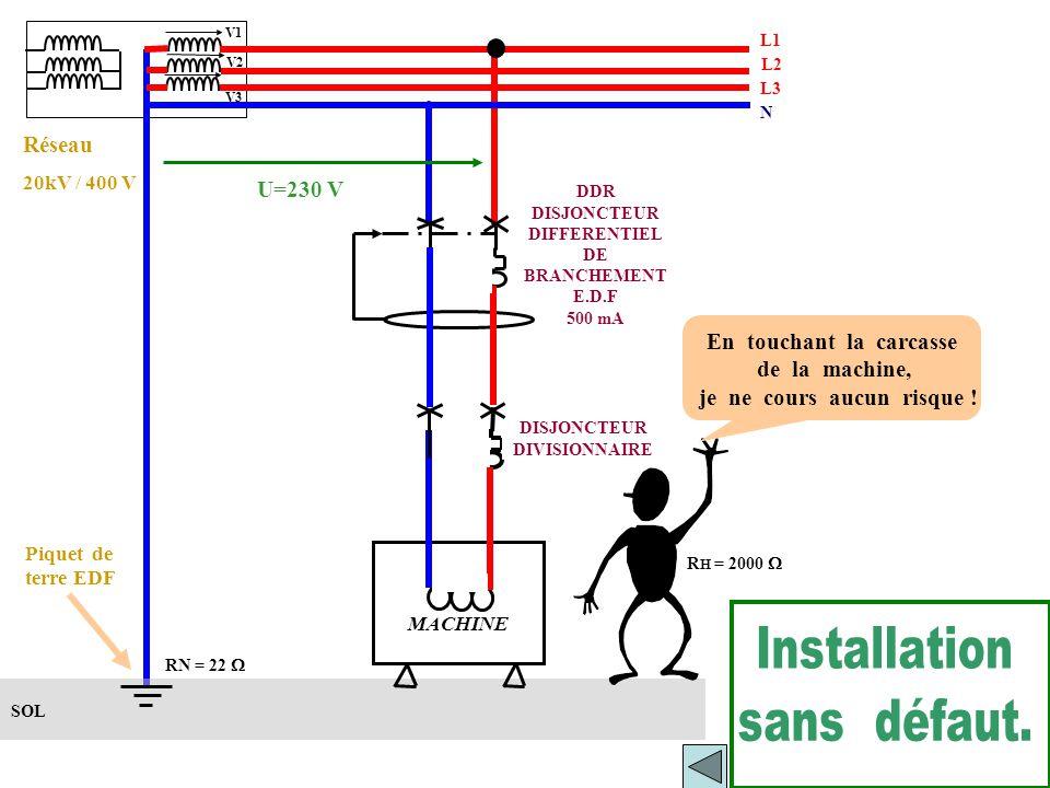   Réseau de distribution en régime TT.   Alimentation d 'une installation sous régime TT sans défaut.   Alimentation d 'une installation sous ré