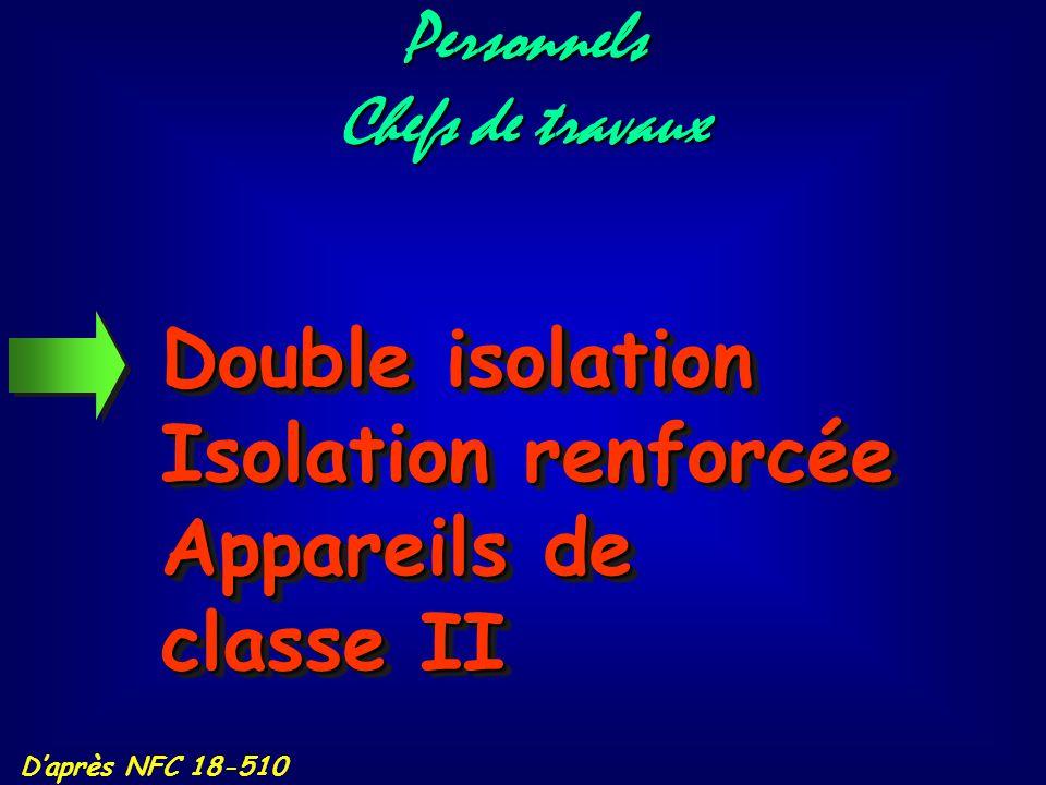 Appareils de classe I Réglementation : D'après NFC 18-510 Les appareils électriques de classe I doivent obligatoirement être raccordés à la terre Ces