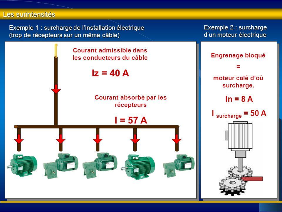 Les surintensités Les dispositifs de protection des biens ont pour fonction de protéger les installations électriques contre les et les et les Qu'est