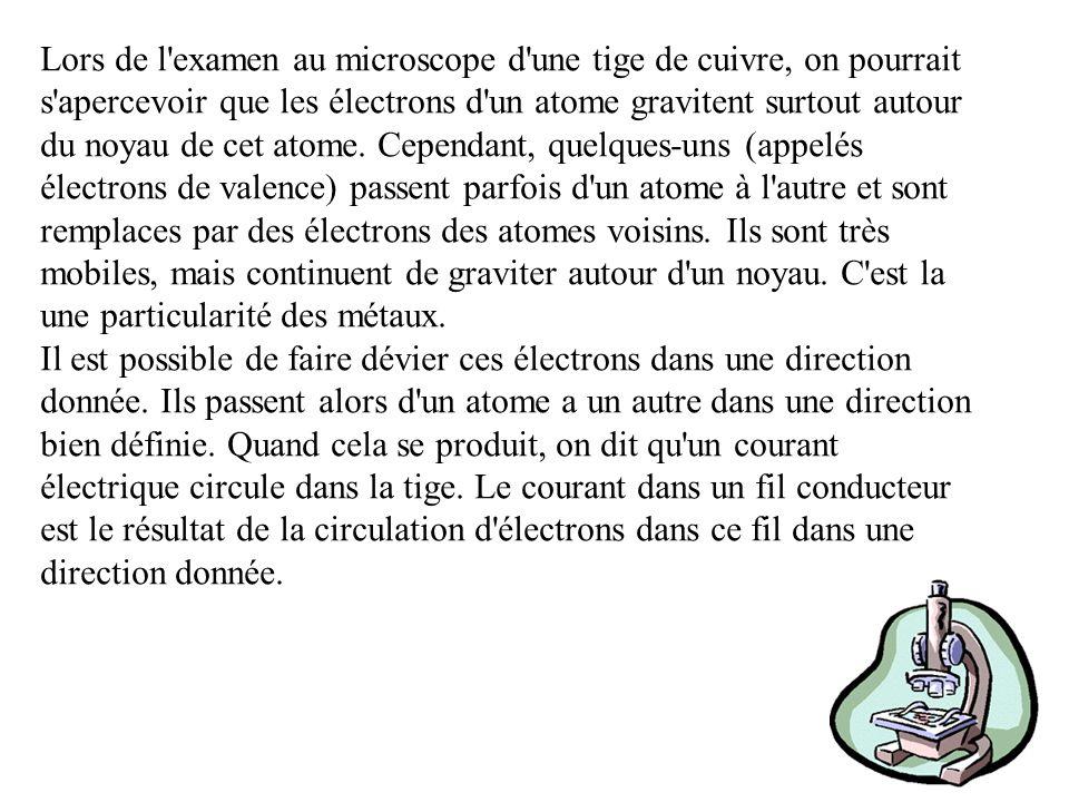 Des expériences très précises ont démontré que les particules élémentaires d un élément, que l on appelle atomes, sont elles- mêmes composées de particules encore plus petites.